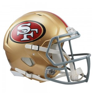 Riddell NFL San Francisco 49ers Authentic Speed Full Size Football Helmet