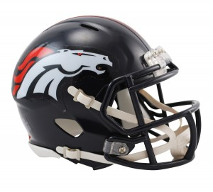 Denver Broncos Revolution Speed Mini Helmet