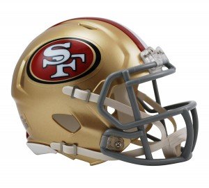 San Francisco 49ers Revolution Speed Mini Helmet