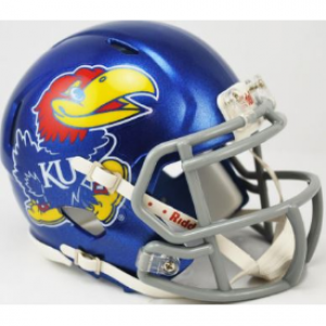 Kansas Jayhawks Revolution Speed Mini Helmet