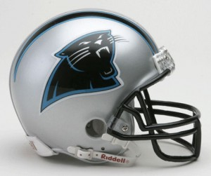 Carolina Panthers 1995-2011 Throwback Replica Mini Helmet