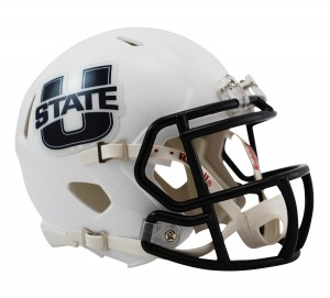 Utah St Aggies Revolution Speed Mini Helmet