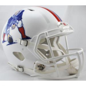 Riddell NFL New England Patriots White Revolution Speed Authentic Full Size Helmet