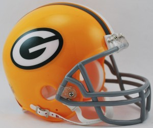 Green Bay Packers 1961-1979 Throwback Replica Mini Helmet