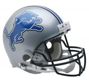 Riddell NFL Detroit Lions 2009-2016 Throwback VSR4 Authentic Full Size Helmet