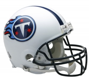 Riddell NFL Tennessee Titans 1999-2017 Throwback Authentic Vsr4 Full Size Football Helmet