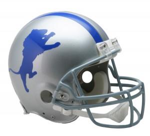 Detroit Lions 1962-1968 Throwback Authentic Full Size Helmet