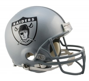 Los Angeles Raiders 1963 Throwback Authentic Full Size Helmet