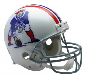 New England Patriots 1965-1981 Throwback Authentic Full Size Helmet