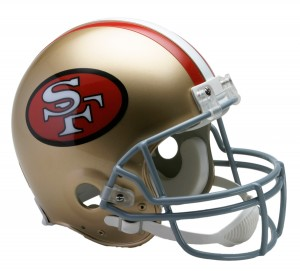 San Francisco 49ers 1964-1995 Throwback Authentic Full Size Helmet