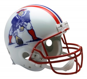 New England Patriots 1990-1992 Throwback Authentic Full Size Helmet
