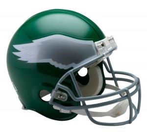 Riddell NFL Philadelphia Eagles 1974-1995 Throwback Authentic Vsr4 Full Size Football Helmet