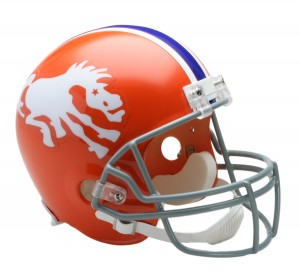 Denver Broncos 1966 Throwback Replica Full Size Helmet