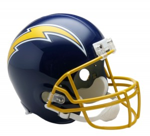 San Diego Chargers 1974-1987 Throwback Replica Full Size Helmet