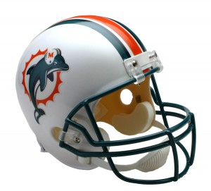 Miami Dolphins 1997-2012 Throwback Replica Full Size Helmet