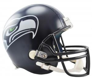 Riddell NFL Seattle Seahawks Matte Navy VSR4 Replica Full Size Helmet