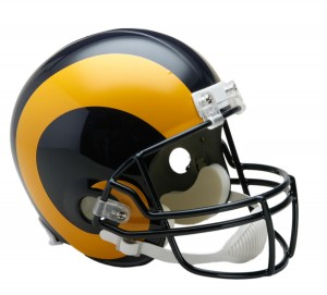 Saint Louis Rams 1981-1999 Throwback Replica Full Size Helmet