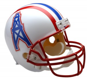 Houston Oilers 1981-1996 Throwback Replica Full Size Helmet