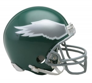 Philadelphia Eagles 1974-1995 Throwback Replica Mini Helmet