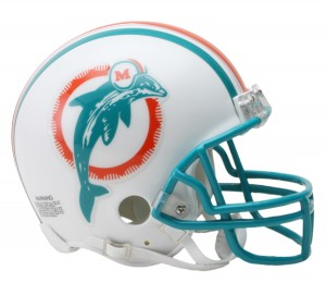 Miami Dolphins 1980-1996 Throwback Replica Mini Helmet