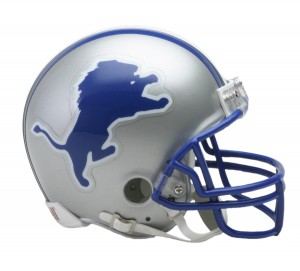 Detroit Lions 1983-2002 Throwback Replica Mini Helmet