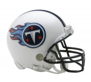 Riddell NFL Tennessee Titans 1999-2017 Throwback Replica Vsr4 Mini Football Helmet