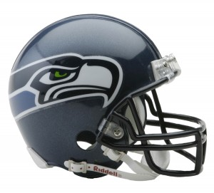 Seattle Seahawks 2002-2011 Throwback Replica Mini Helmet