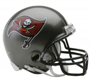 Tampa Bay Buccaneers 1997-2013 Throwback Replica Mini Helmet