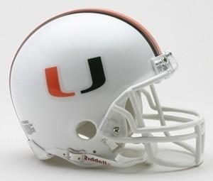 Miami Hurricanes Riddell Mini Vsr4 Helmet