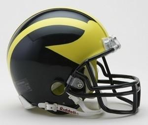Michigan Wolverines Riddell Mini Vsr4 Helmet