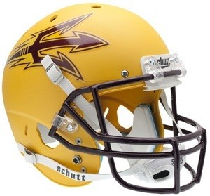 Arizona St Sun Devils Matte Gold XP Replica Full Size Helmet