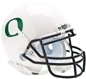Oregon Ducks White Authentic Mini Helmet