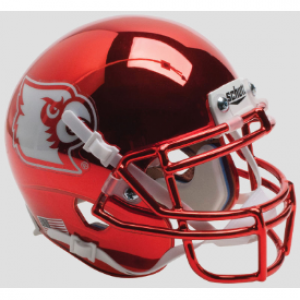 Schutt NCAA Louisville Cardinals Red Chrome XP Authentic Mini Helmet