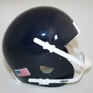 Schutt Navy Blue Blank Customizable XP Authentic Mini Football Helmet Shell