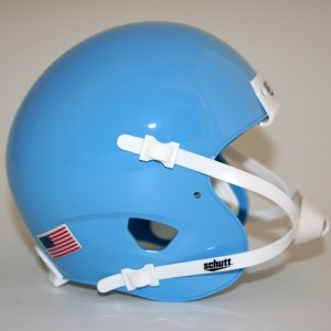 Schutt Columbia Blue Blank Customizable XP Authentic Mini Football Helmet Shell