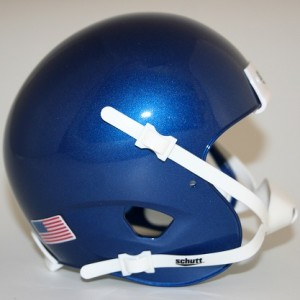 Schutt Metallic Royal Blue Blank Customizable XP Authentic Mini Football Helmet Shell