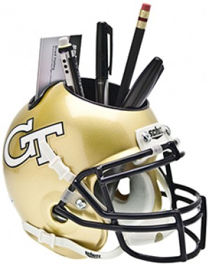 Georgia Tech Yellow Jackets Authentic Mini Helmet Desk Caddy