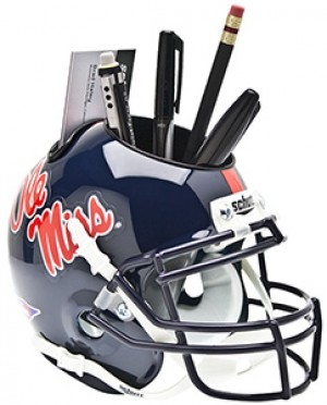 Ole Miss Rebels Authentic Mini Helmet Desk Caddy
