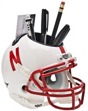 Nebraska Cornhuskers Authentic Mini Helmet Desk Caddy