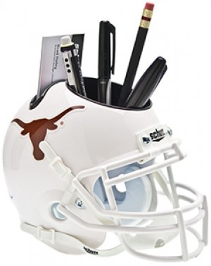 Texas Longhorns Authentic Mini Helmet Desk Caddy