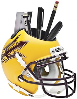 Arizona St Sun Devils Gold Authentic Mini Helmet Desk Caddy