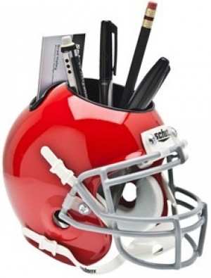 Ohio St Buckeyes Red Authentic Mini Helmet Desk Caddy