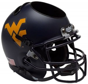 West Virginia Mountaineers Authentic Mini Helmet Desk Caddy
