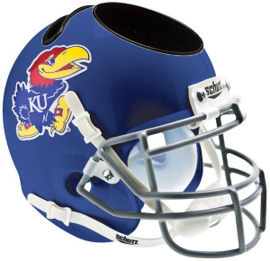 Kansas Jayhawks Authentic Mini Helmet Desk Caddy
