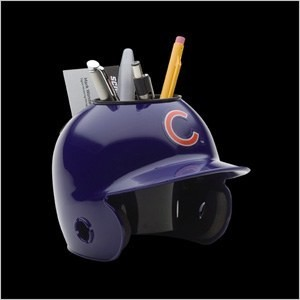 Chicago Cubs Authentic Mini Batting Helmet Desk Caddy
