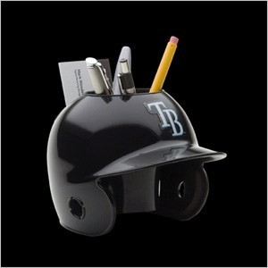 Tampa Bay Rays Authentic Mini Batting Helmet Desk Caddy