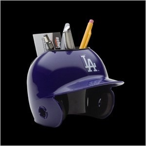 Los Angeles Dodgers Authentic Mini Batting Helmet Desk Caddy