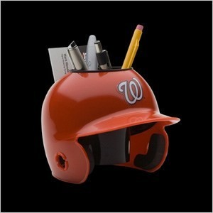 Washington Nationals Authentic Mini Batting Helmet Desk Caddy