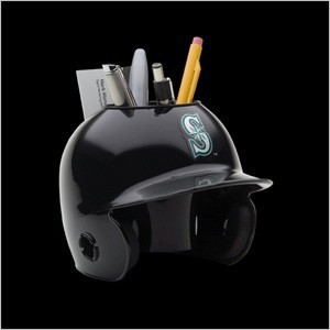 Seattle Mariners Authentic Mini Batting Helmet Desk Caddy