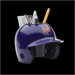 New York Mets Authentic Mini Batting Helmet Desk Caddy